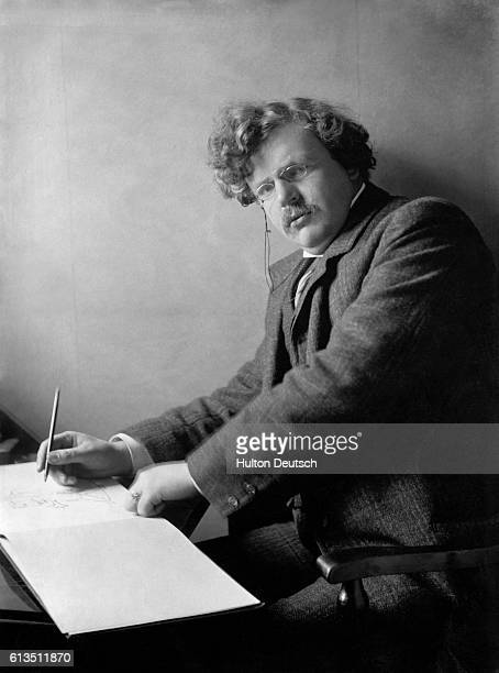 The English novelist GK Chesterton author of the popular detective stories featuring Father Brown