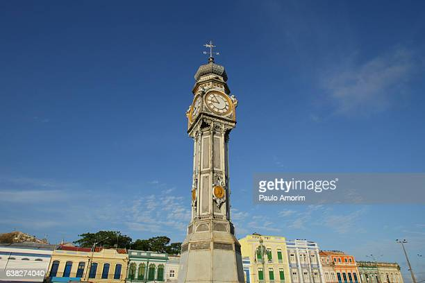 The English old iron clock in Belém,Amazon