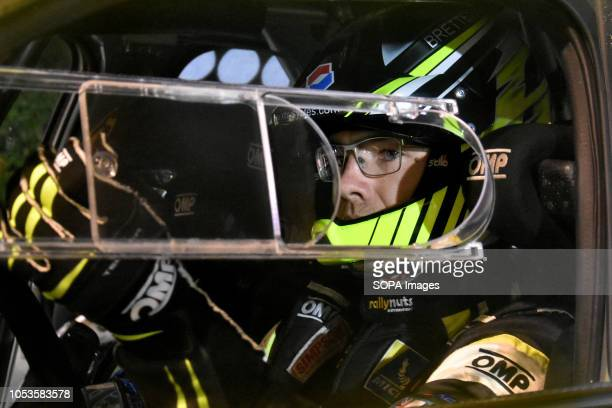 The English rally driver RYates seen in his WRC at the asphalt stage in Barcelona during the RACC Catalunya Costa Daurada Rally