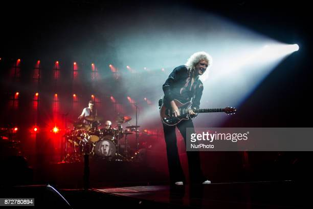 The english rock band Queen and Adam Lambert performing live at Unipol Arena Bologna Italy on 10 November 2017