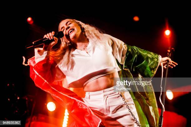 The english singer and songwriter AnneMarie performing live at Fabrique in Milan Italy on 19 April 2018