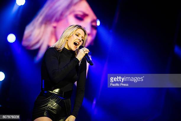 The English singer and song-writer Ellie Goulding pictured on stage as she performs live at Mediolanum Forum in Assago Milan.