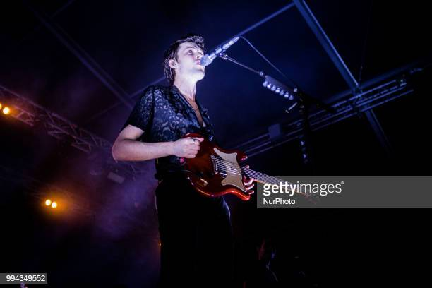 The english singer and song-writer James Bay performing live at Unaltrofestival 2018 Circolo Magnolia Segrate, Milan, Italy, on 8 July 2018.