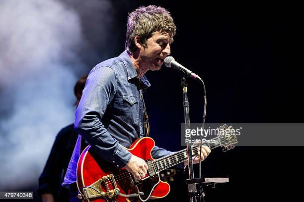 The English singer and song-writer Noel Gallagher with his alternative rock band High Flying Birds as they perform at Summer Arena in Assago Milan.
