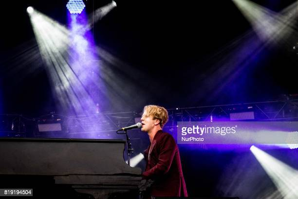 The english singer and songwriter Tom Odell pictured on stage as he performs at MoonampStars 2017 in Locarno Switzerland on 19 July 2017