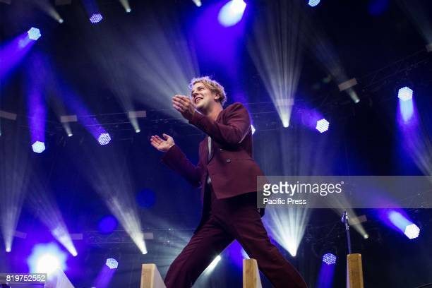 The english singer and songwriter Tom Odell pictured on stage as he performs at MoonStars 2017 in Locarno Switzerland