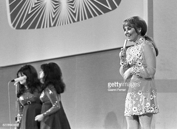 The English singer Lulu winner on the Eurovision Song Contest with the song 'Boom BangaBang' 29th March 1969 Madrid Spain