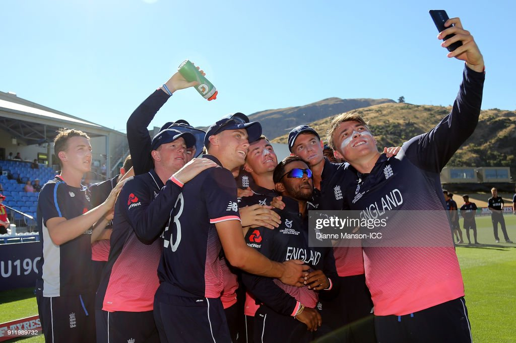 ICC U19 Cricket World Cup: New Zealand v England - 7th v 8th Playoff : News Photo
