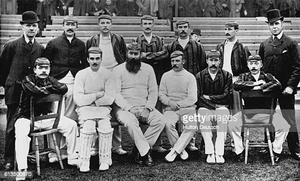 The English team that toured in Australia in 18911892 They are A Hewell Lohmann J M Read Bean and J W Sharpe Briggs MacGregor W G Grace Peel Stoddart...