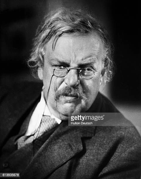 The English writer GK Chesterton ca 1926 He is best known for his crime stories featuring the clerical detective Father Brown