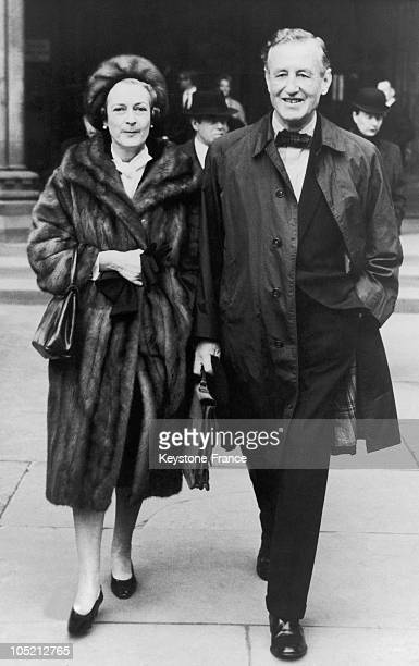 The English Writer Ian Fleming The Creator Of James Bond With His Wife In November 1963 Some Time Before His Death