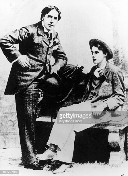 The English Writer Oscar Wilde And His Young Lover 24YearOld Lord Alfred Bruce Douglas Nicknamed Bosie Lord Queensbury' S Son Famous Scotish...
