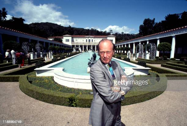 The Englishborn curator of the Getty Museum photographed May 15 1982 at the Getty Villa Pacific Palisades California