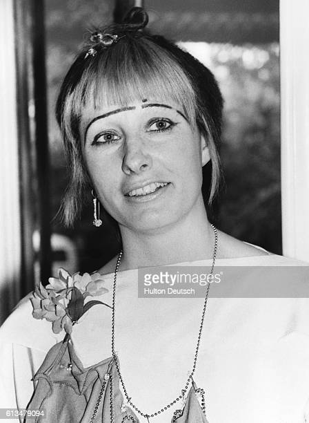 The Englsih fashion designer Zandra Rhodes in 1977
