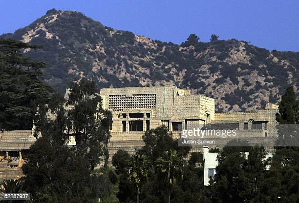 The EnnisBrown House designed by architect Frank Lloyd Wright in 1924 is pictured on March 7 2005 in Los Angeles California The historic 10000 square...