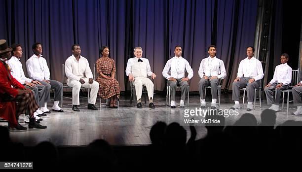 The Ensemble Cast featuring Sharon Washington Colman Domingo Joshua Henry Forrest McClendon John Cullum during the Opening Night Performance Curtain...