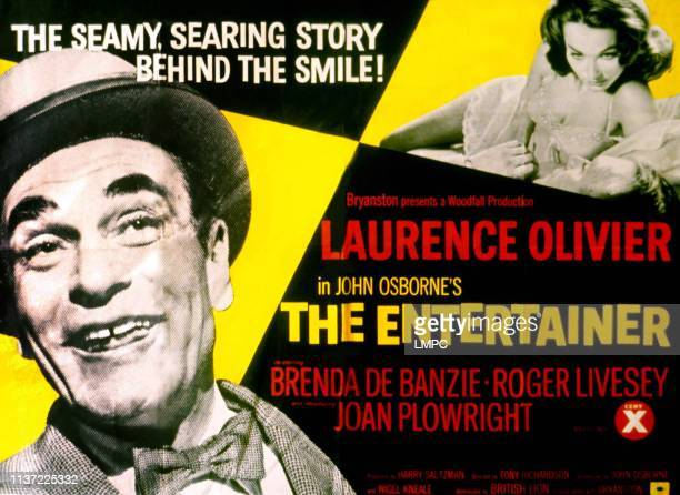 The Entertainer poster Laurence Olivier Shirley Anne Field Laurence Olivier on British poster art 1960
