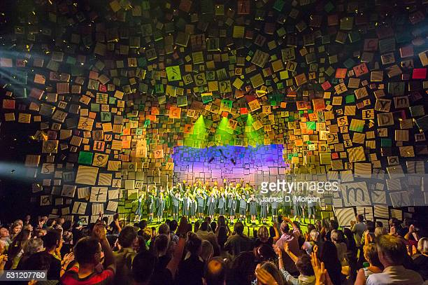 The entire company of the Sydney production of Matilda the musical by Roald Dahl and produced by the Royal Shakespere Company take their final bows...