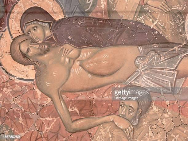 The Entombment of Christ, ca 1380. Artist: Ancient Russian frescos