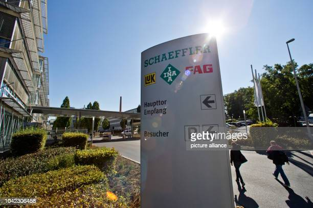 The entrance area of the car parts supplier Schaeffler group headquarters in Herzogenaurach Germany 1 October 2015 Due to the Volkswagen emissions...