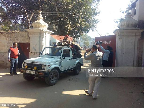 The entrance gate of the high-security Nabha jail in Patiala from where one militant and 4 other inmates escaped, at Nabha on November 27, 2016 in...