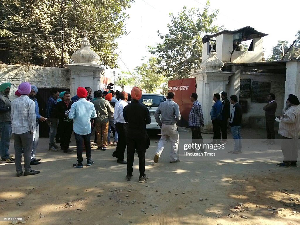 The entrance gate of the highsecurity Nabha jail in Patiala from where one militant and 4 other inmates escaped at Nabha on November 27 2016 in...