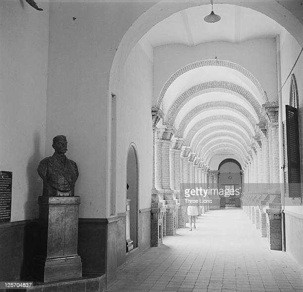 The entrance hall of Gordon Memorial College Khartoum Sudan circa 1955 Named for British general Charles Gordon the college was opened by Lord...