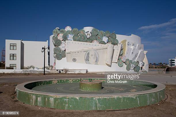 The entrance of an abandoned resort is seen on April 3 2016 in Sharm El Sheikh Egypt Prior to the Arab Spring in 2011 some 15million tourists would...