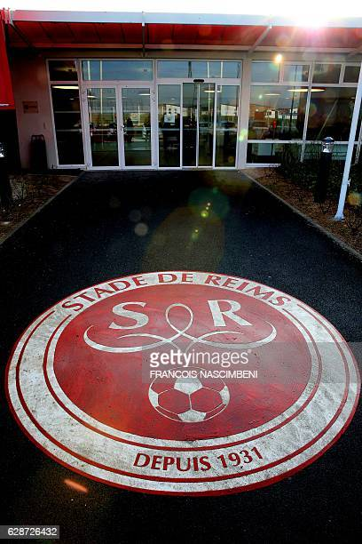 The entrance of French L2 football club Stade de Reims training center is pictured on December 9 2016 in Reims after the club's French defender...