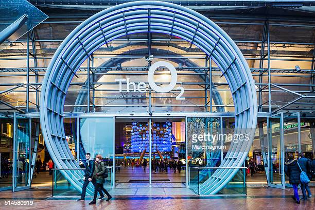 the entrance of o2 arena (or millennium dome) - the o2 england stock pictures, royalty-free photos & images