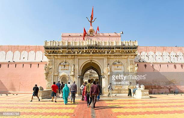 The entrance of RatsTemple , Bikaner, India