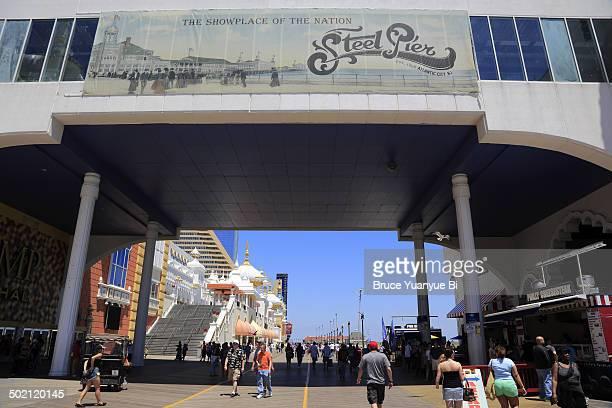 The entrance of Steel Pier amusement park