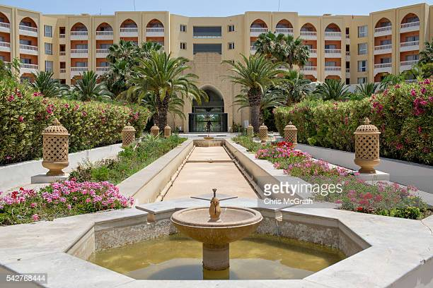 The entrance of the closed Imperial Marhaba Hotel is seen on June 24 2016 in Sousse Tunisia The Imperial Marhaba hotel was the main target of the...
