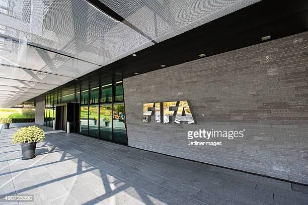A entrada da FIFA sede em Zurique