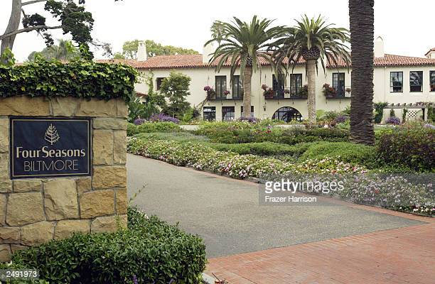 The entrance of the Four Seasons Biltmore Hotel is shown September 132 003 in Santa Barbara California The Biltmore is the location where guests of...
