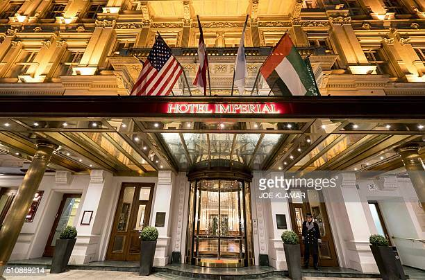 The entrance of the Hotel Imperial in Vienna is pictured on February 17 2016 The 138room Hotel Imperial in Vienna was originally built in 1863 as...