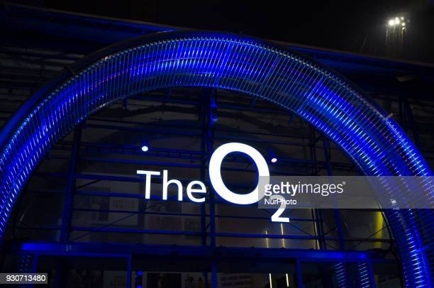 The entrance of The O2 Arena is pictured in London on March 11 2018