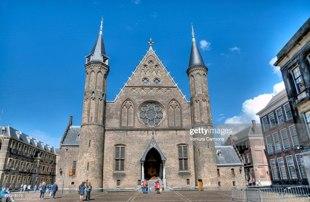 The entrance of the Ridderzaal in The Hague - The Netherlands : Stock Photo