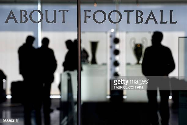The entrance of the UEFA headquarters is photographed on November 25 2009 in Nyon prior to an emergency meeting with nine football national...