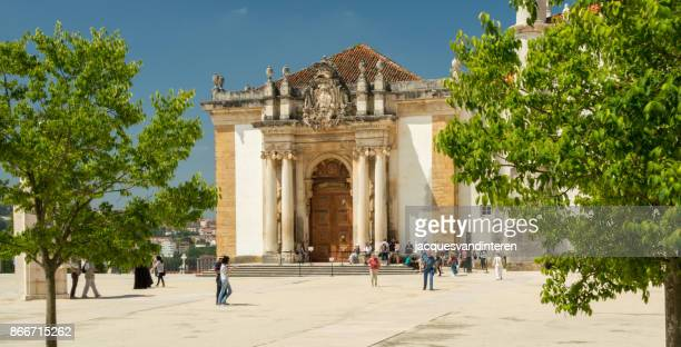The entrance of the world famous library of the university of Coimbra, Portugal