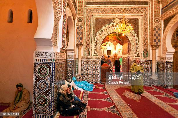 CONTENT] The entrance of the Zaouïa of Moulay Idriss the heart of the Fez Medina The building of the shrine began in 1717 and was completed in 1824...