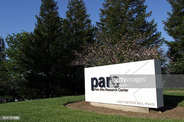 The entrance sign of PARC , where a crowd gathered there to honor 30 years of the Ethernet at 30.