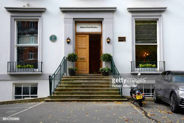 The entrance to Abbey Road Studios in London, England, formerly known as EMI Studios. The recording studio was established in 1931 by the Gramophone...