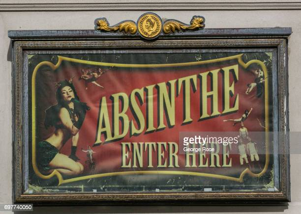 The entrance to Absinthe a theatre show at Caesars Palace Hotel Casino is viewed on May 31 2017 in Las Vegas Nevada Tourism in America's 'Sin City'...