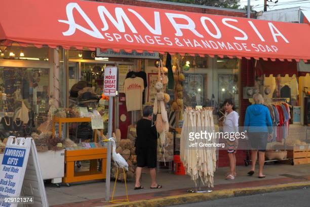 The entrance to Amvrosia Sponges & Handmade Soap shop  News