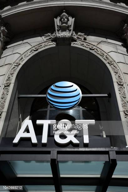 SAN FRANCISCO CALIFORNIA SEPTEMBER 12 2018 The entrance to an ATT store in San Francisco California