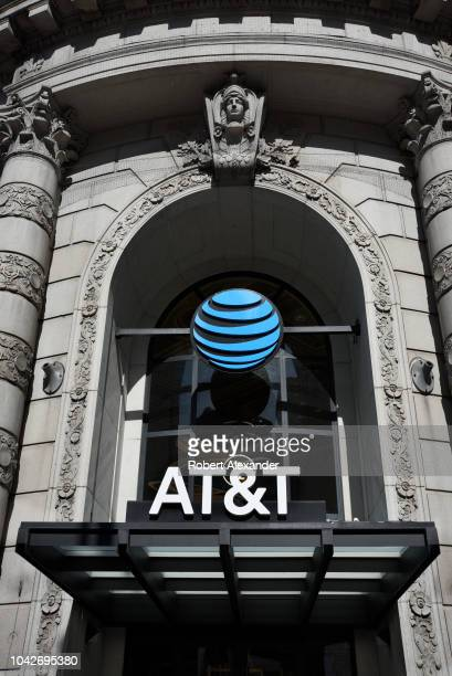 The entrance to an AT&T store in San Francisco, California.