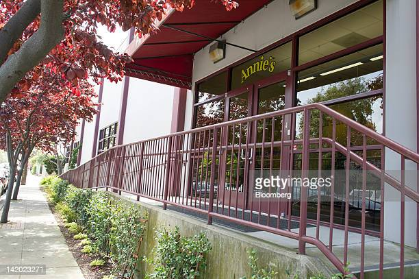 The entrance to Annie's Inc corporate headquarters stands in Berkeley California US on Wednesday March 28 2012 Annie's Inc the maker of organic and...