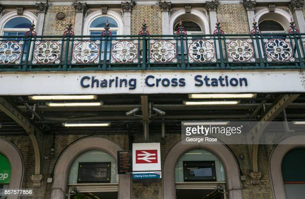 The entrance to Charing Cross Station is viewed on September 13 in London England Great Britain's move toward 'Brexit' or the departure from the...