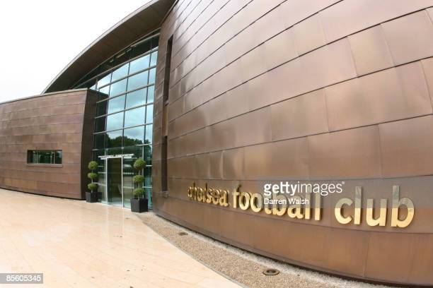 The entrance to Chelsea's new look Cobham training ground